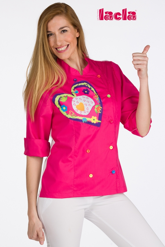 FLOWERS AND HEART KITCHEN JACKET
