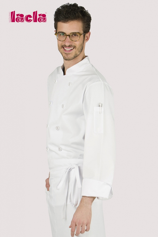 DRY BACK BUTTONS TWILL CHEF'S COAT
