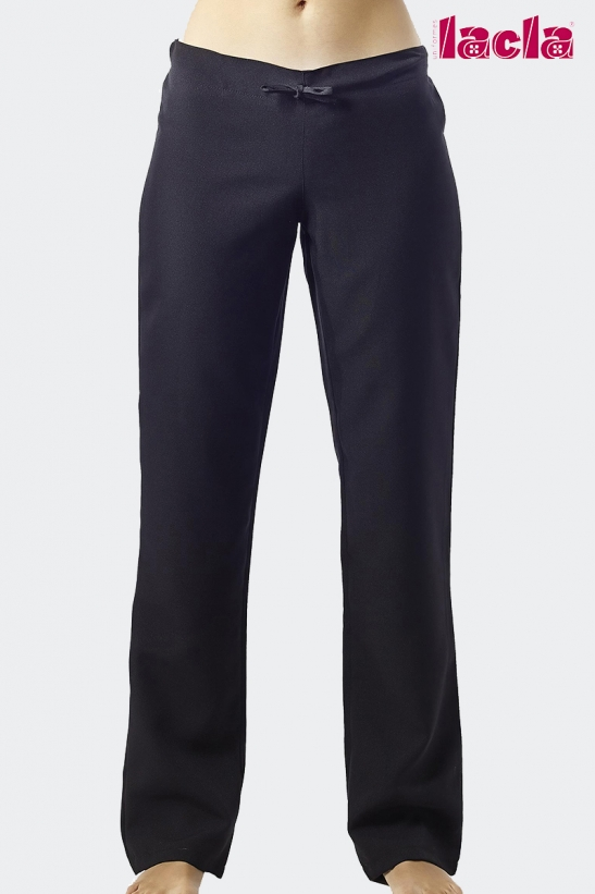 POLYESTER TROUSERS WITH AN ELASTIC