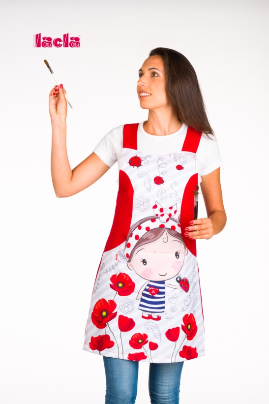 POPPY LITTLE GIRL SCHOOL PINAFORE