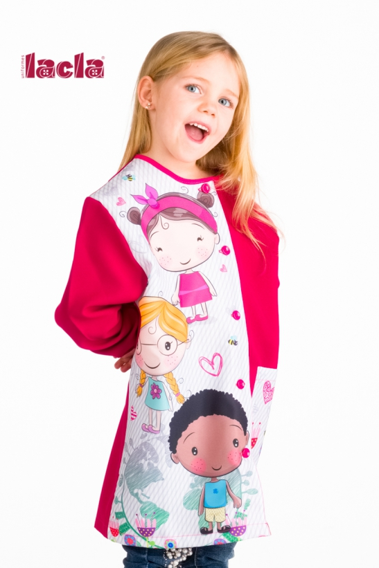 INTERNATIONAL SCHOOL SMOCK WITH BUTTONS