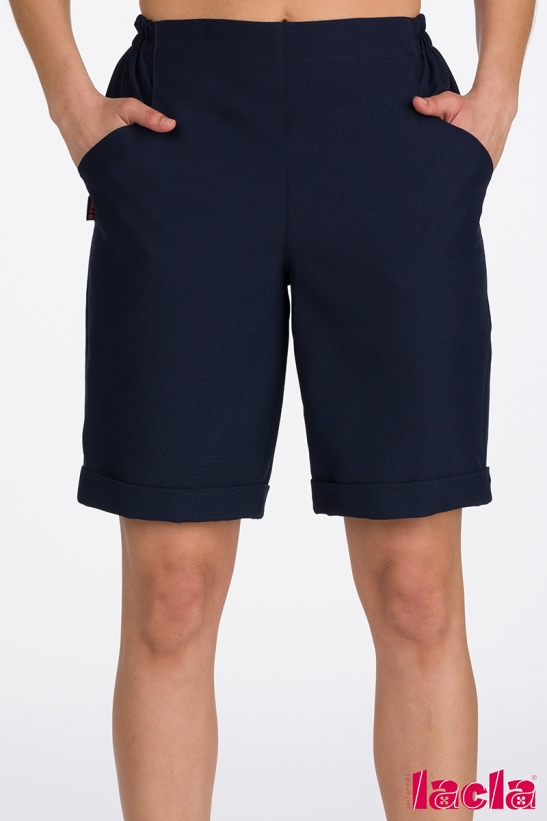 POLYESTER BERMUDA SHORTS WITH POCKETS