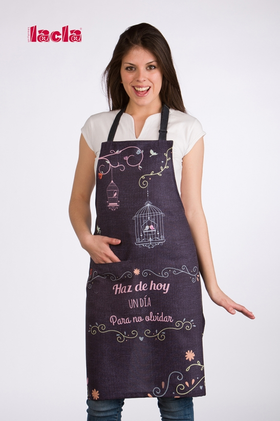 BIRDS DENIM APRON
