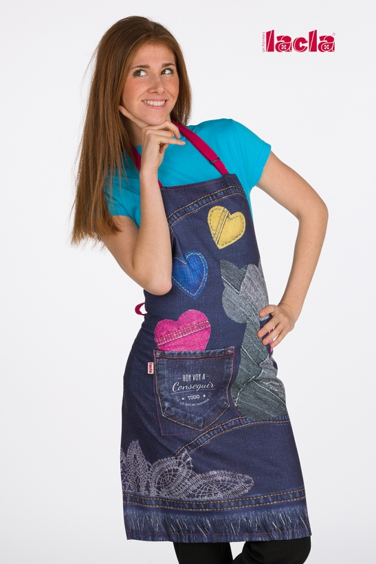 CAT DENIM APRON WITH TASSELS