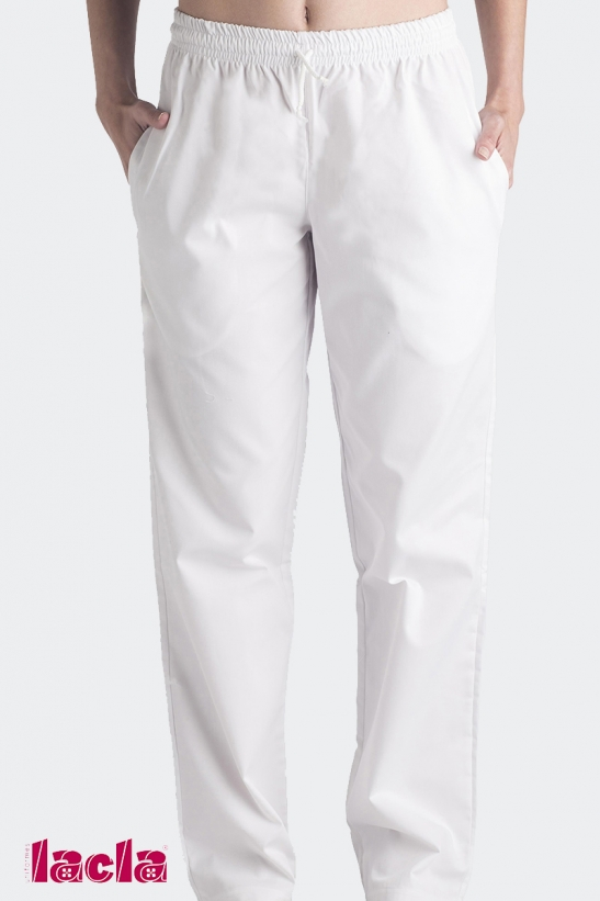 TWILL TROUSERS WITH ELASTIC CORD