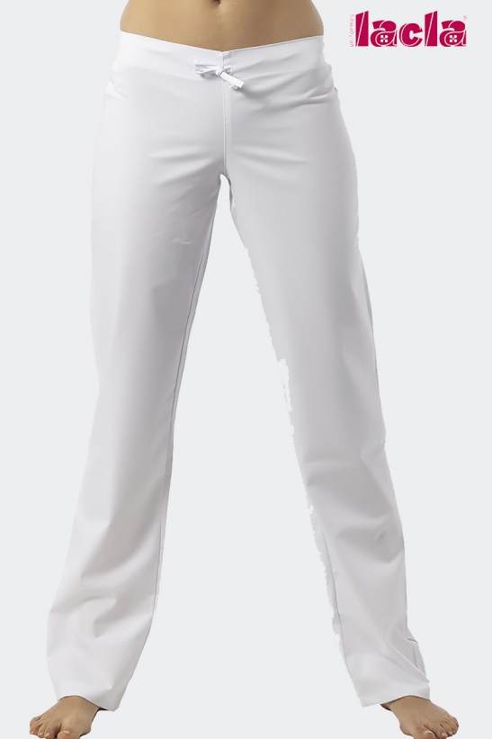 TWILL TROUSERS WITH AN ELASTIC