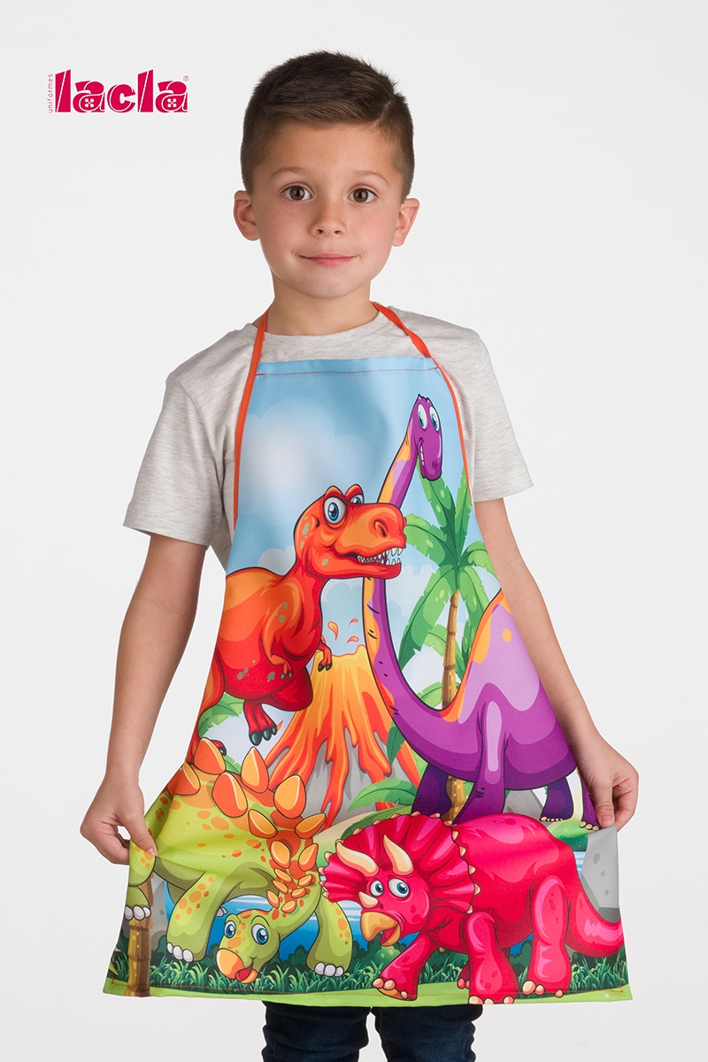 2 PACK OF CHILDISH DINOSAURS APRONS