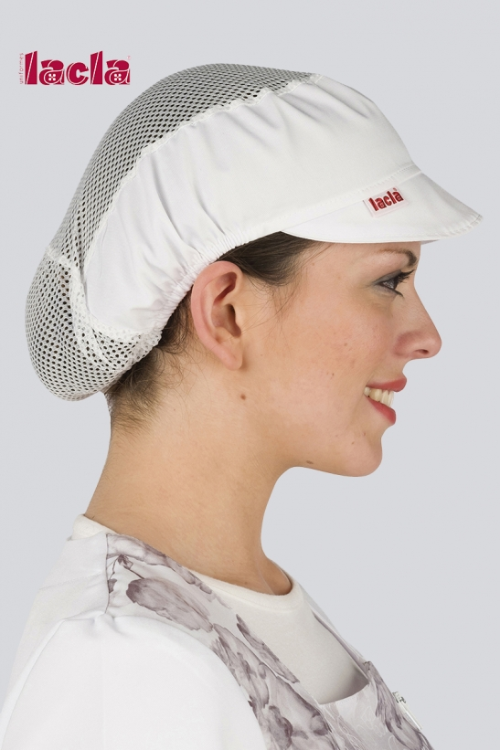 WHITE MESHED CAP