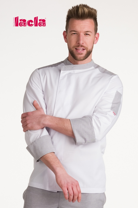 """ELEGANT"" DRY BACK CHEF'S WHITE JACKET"