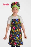 PACK OF CHILDISH MONSTERS APRON AND HAT