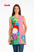POPPY SCHOOL SMOCK WITH BUTTONS