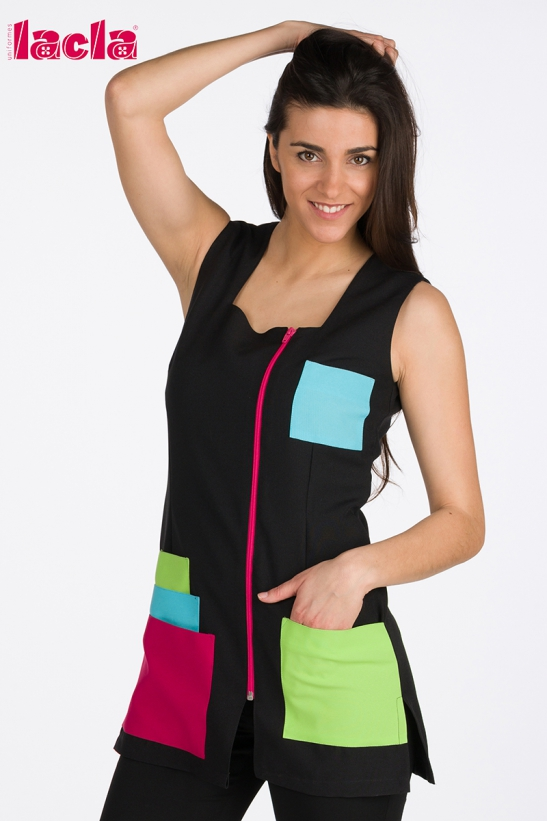 JACKET WITH COLORFUL POCKETS