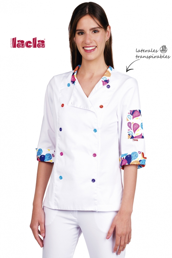 COLORFUL AGATA CHEF COAT