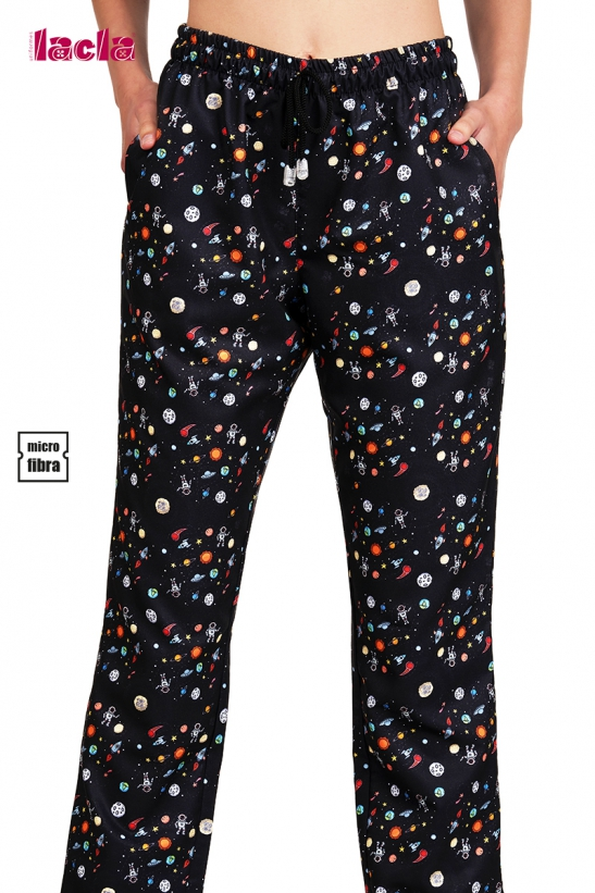 ELASTIC WAIST TROUSERS WITH 3 POCKETS